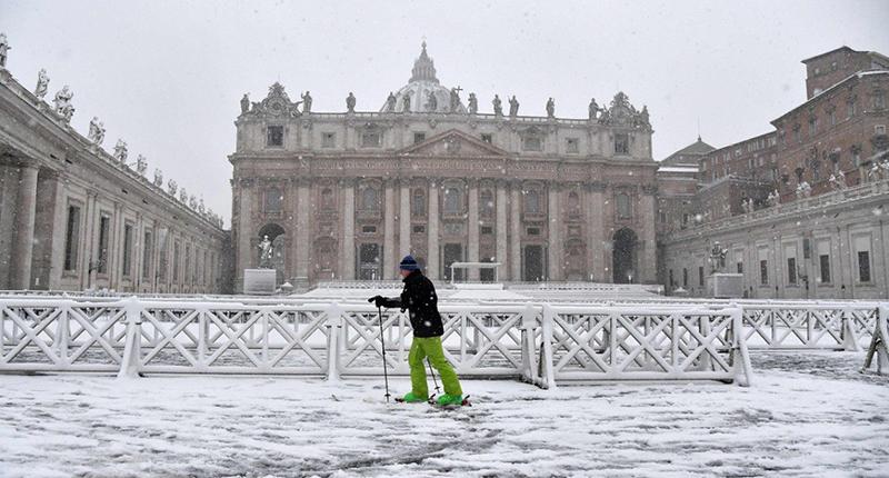 Apesar de raro, saiba que há a possibilidade de nevar no Vaticano