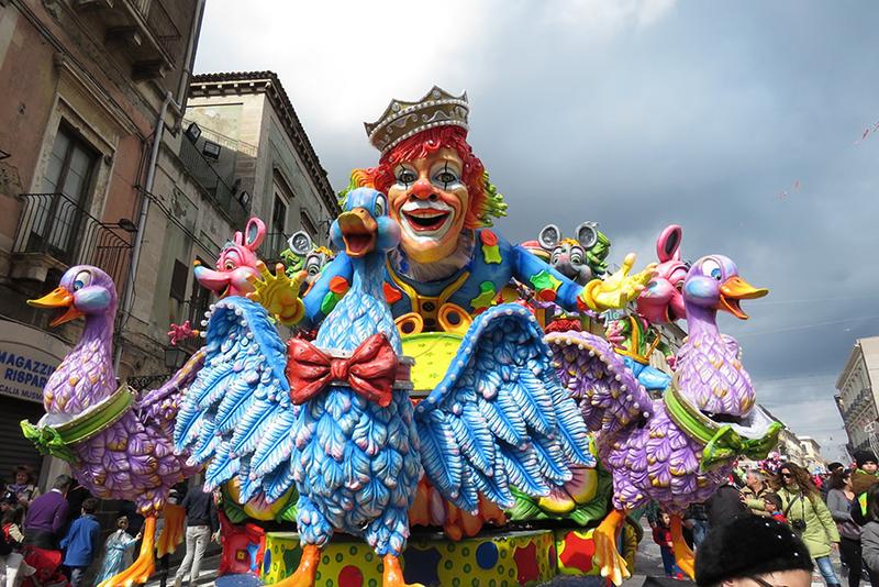 Carnaval em Acireale na Sicília