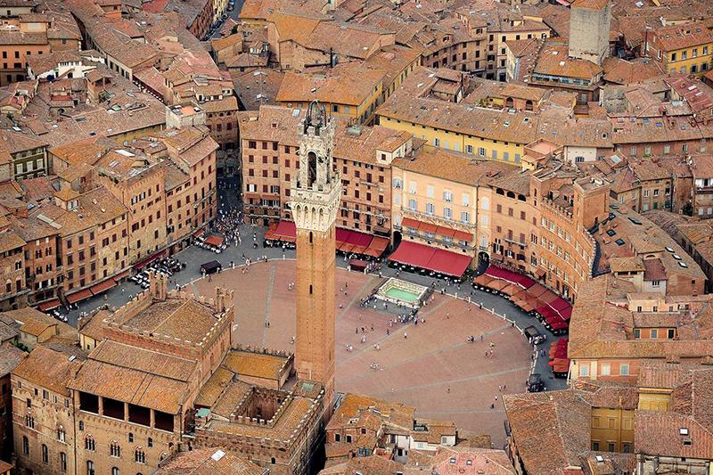 Centro de Siena na Itália