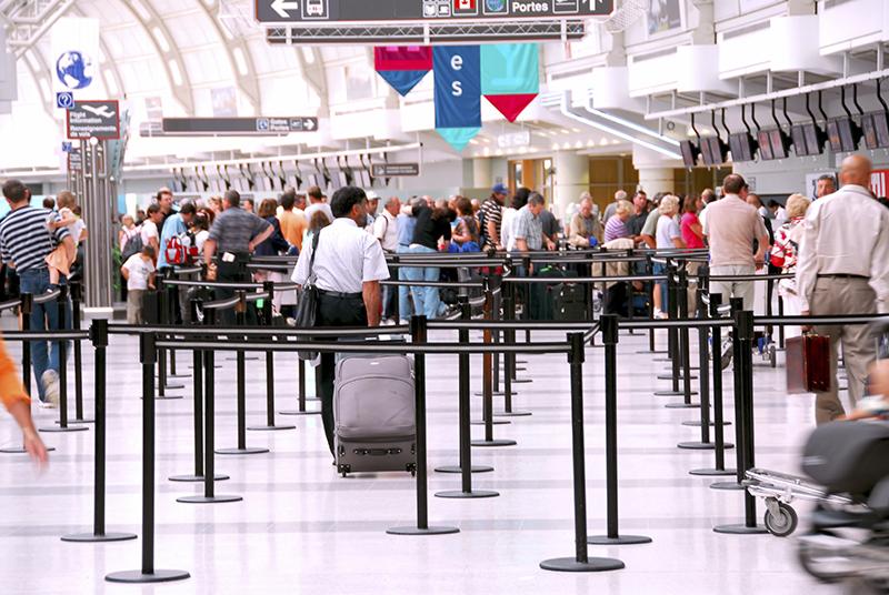 Balcões de aeroporto na Itália