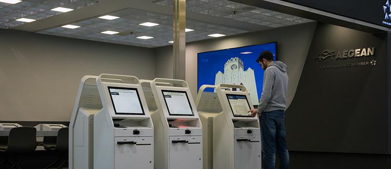 Sistema de atendimento eletrônico no aeroporto