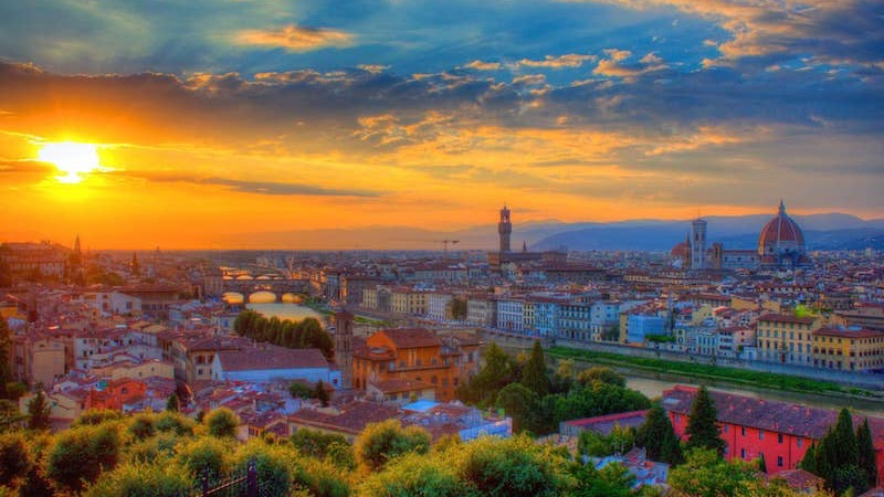Pôr do sol em Florença