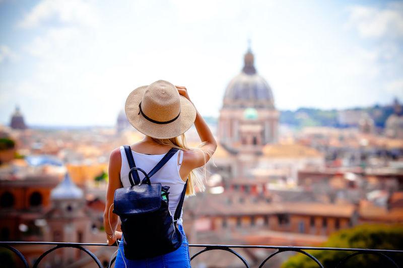 Viajante em Roma