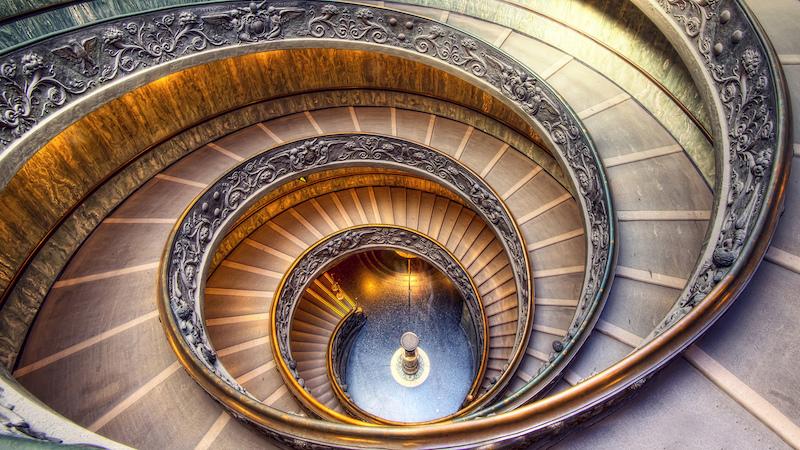 Escadaria Bramante em Roma